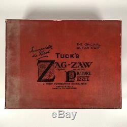 Vintage Wooden TUCK'S Zag-Zaw De Luxe Jigsaw Puzzle Hamlet 1,500 Pieces COMPLETE
