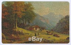Vtg PAR Puzzle handcut wood jigsaw Home Life in the Alps Arthur Diehl 750 pcs