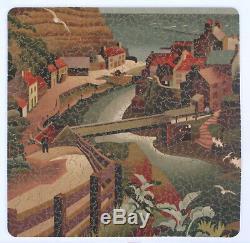 Vtg PAR Puzzle handcut wood jigsaw Toy Town 750 pcs