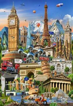 WORLD LARGEST JIGSAW PUZZLE 42000 pcs EDUCA Landmarks Around the world NEW