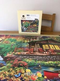 Wentworth wooden jigsaw puzzle 1000 Pieces Cabin In The woods Complete