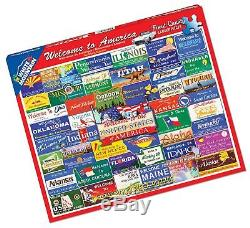 White Mountain Puzzles Welcome to America 1000 Piece Jigsaw Puzzle