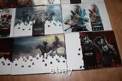 Witcher 9 Puzzle Collection Triss Geralt Jigsaw Complete Set! Rare