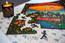 Wooden Jigsaw puzzle DaVICI day and night (280 PCs) Artist Sergey Adeev. NEW