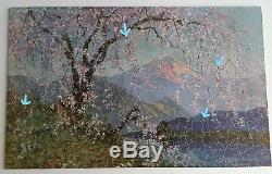 Wooden PASTIME Jigsaw PUZZLE Parker Brothers Cherry Time In Old Japan 471 Pcs