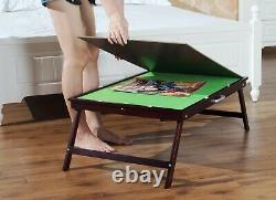Wooden Portable Jigsaw Puzzle Table With Storage, Table For 1000 Pieces Puzzles