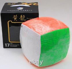 YX 17x17x17 Professional Magic Cube Twist Puzzle Fancy Toys Rainbow Stickerless